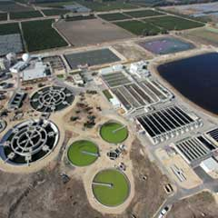 Desalination plants and sewage treatment plants